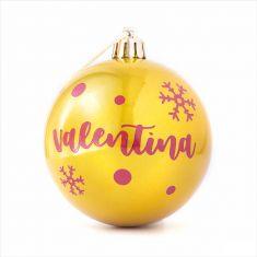 Bola Navidad Dorado Mate personalizada