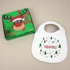 Baby Christmas Customizable Pacifier Name + Christmas balls Mallow