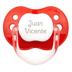 PTL Red personalized New Classic pacifier