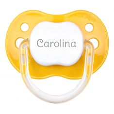 PTL Yellow personalized New Classic pacifier