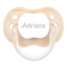 PTL Beige personalized New Classic pacifier