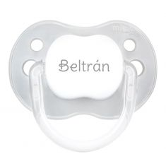 PTL Gray personalized New Classic pacifier