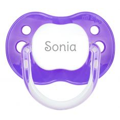 PTL Purple personalized New Classic pacifier