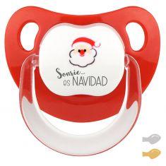 Chupete Baby Deco Papa Noel Sonríe es Navidad