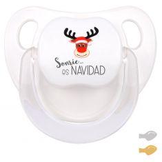 Chupete Baby Deco Rudolf Sonríe es Navidad