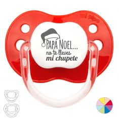 Classic Pacifier Christmas,Santa Claus do not take my pacifier Red