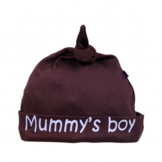Gorro Beauty & The Bib Marrón Mummy´s Boy +6M