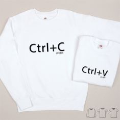 Pack 2 Prendas Camiseta o Sudadera CTRL+C / CTRL+V