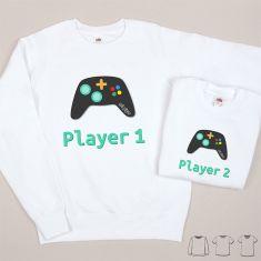 Pack 2 Prendas Camiseta o Sudadera Player 1 / Player 2