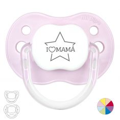 Pacifier I love Mom with Star