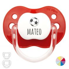 Chupete Personalizado Nombre + Fútbol