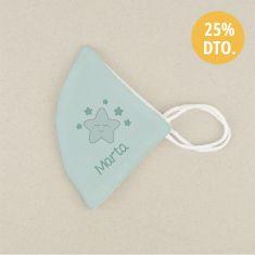 Mascarilla Higiénica reutilizable Personalizada Estrella sonrisa Color a elegir
