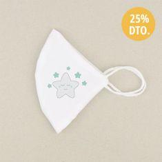Mascarilla Higiénica reutilizable Sin personalizar Estrella sonrisa Color a elegir