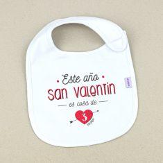 Babero Divertido Este año San Valentín es cosa de 3