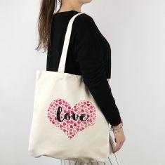 Bolso algodón orgánico Corazón corazones Love