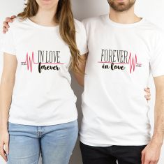 Pack 2 prendas Pareja divertidas In love forever / Forever in love