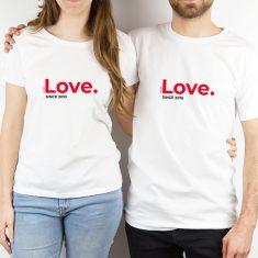 Pack 2 prendas Pareja personalizadas Love since (año)