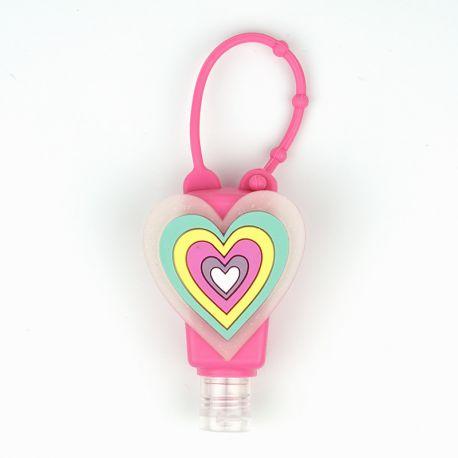 Botellita Gel Rosa Corazón Personalizada