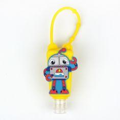 Botellita Gel Amarilla Robot Personalizada