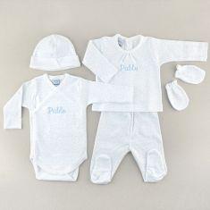 Babidu My First Cloth Personalized Little Stars Blue 0M