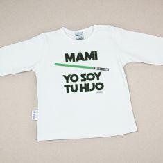 Camiseta o Sudadera Bebé y Niño/a Mami Yo soy tu Hijo Verde