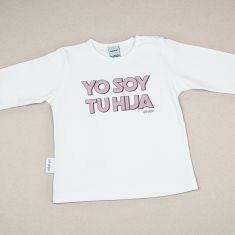 Camiseta o Sudadera Bebé y Niño/a Yo soy tu Hija rosa