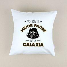Cojín cuadrado piqué Yo soy el mejor Padre de la Galaxia