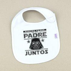 Babero Divertido Nuestro primer día del Padre juntos Darth Vader