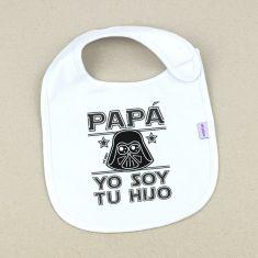 Babero Divertido Papá yo soy tu hijo Darth Vader