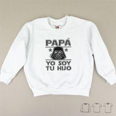 Camiseta o Sudadera Bebé y Niño/a Papá yo soy tu Hijo Darth Vader