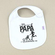 Babero Divertido Mi Papá es runner