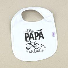 Babero Divertido Mi Papá es ciclista