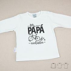 Camiseta o Sudadera Bebé y Niño/a Mi Papá es ciclista