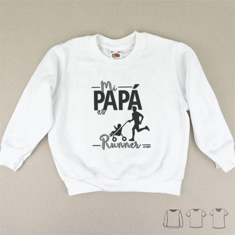 Camiseta o Sudadera Bebé y Niño/a Mi Papá es runner