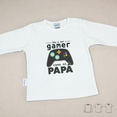 Camiseta o Sudadera Bebé y Niño/a Voy a ser gamer como mi Papá