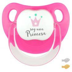 Chupete Baby Deco Corona Fucsia Soy una Princesa