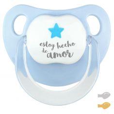 Chupete Baby Deco Estrella Azul Estoy hecho de Amor