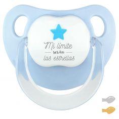 Chupete Baby Deco Estrella Azul Mi límite serán las estrellas