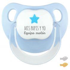 Chupete Baby Deco Estrella Azul Mis Papis y yo Equipo Molón