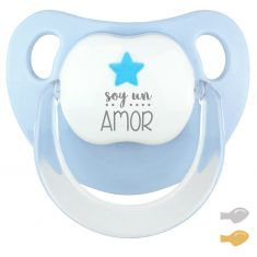 Chupete Baby Deco Estrella Azul Soy un Amor
