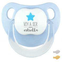 Chupete Baby Deco Estrella Azul Voy a ser una Estrella
