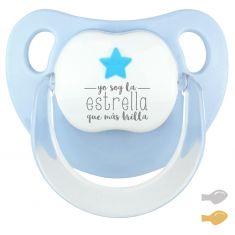 Chupete Baby Deco Estrella Azul Soy la estrella que más brilla