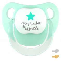 Chupete Baby Deco Estrella Mint Estoy hecha de Amor