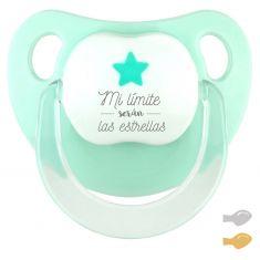 Chupete Baby Deco Estrella Mint Mi límite serán las estrellas