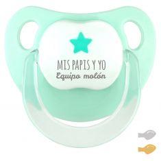 Chupete Baby Deco Estrella Mint Mis Papis y yo Equipo Molón