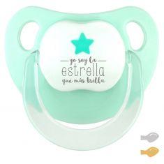 Chupete Baby Deco Estrella Mint Soy la estrella que más brilla