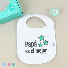 Cajita Babero + Chupete Papá es el Mejor