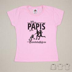 Camiseta o Sudadera Bebé y Niño/a Mis Papis son runners