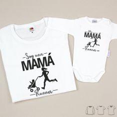 Pack 2 Prendas Mamá Soy una mamá runner + Body o Camiseta Mi mamá es runner