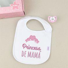 Cajita Babero + Chupete Princesa de Mamá